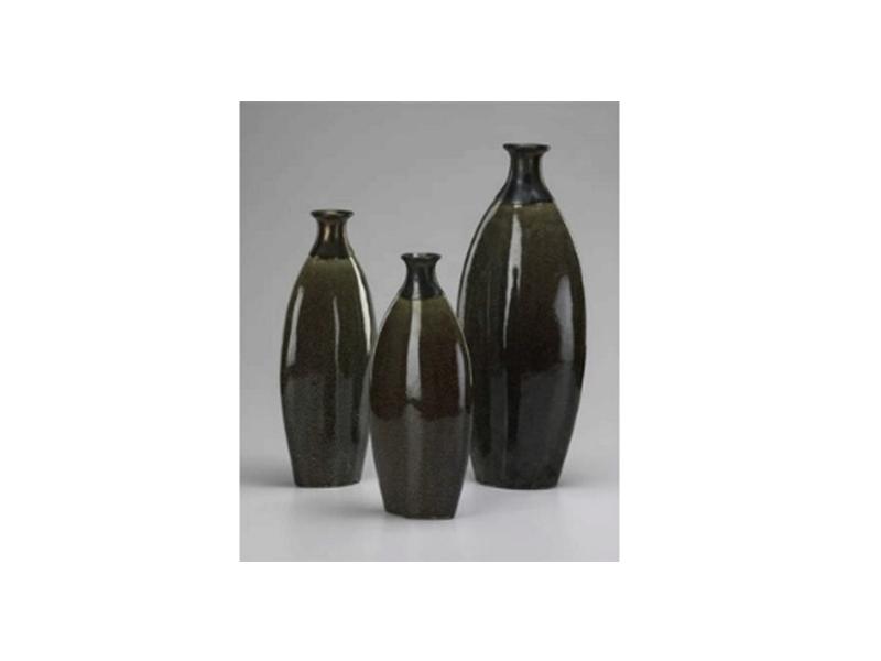 Gold Dust Vases Set Of 3 Dillon Amber Dane