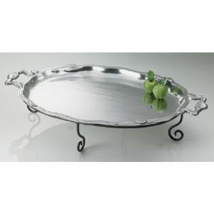 Large Oval Tray & Iron Stand