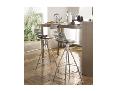 Smoke Grey L'eau Counter Stools