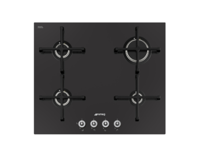 PV164CN Smeg 60cm Black Ceramic Glass Gas Hob