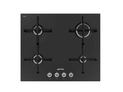PV164CN Smeg 60cm Black Ceramic Glass Gas Hob