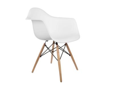 White Mid Century Modern Armchair