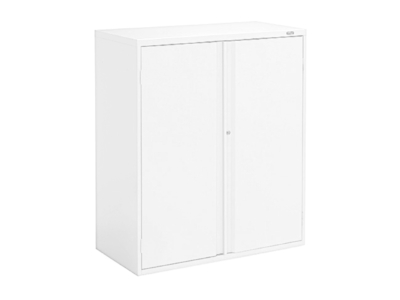 "42"" White High Storage Cabinet"